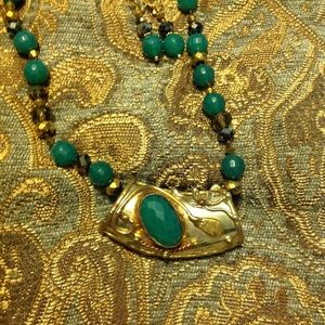 Jewelry - JADE AND GARNET NECKLACE WITH ENHANCER